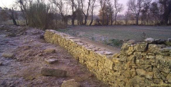 mur de partió a la Segarra